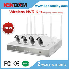 Wireless nvr kit Frequency Band: 5.8GHz Wireless camera and nvr 4ch wifi nvr kits cctv kit
