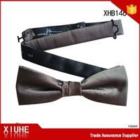Polyester wholesale fashion bow tie size ribbon for men