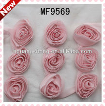 Chiffon Dress Rosettes Fabric Rose Trim