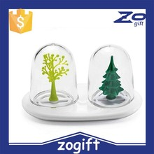 ZOGIFT coking tools kitchen Creative cruet understand ourwords sooktops animal doll four seasons salt sugar sauce pot piece set