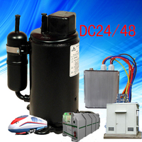 BLDC compressor 1HP auto air conditioning system compressor for New Condition Room Island mountain telecom station vessell