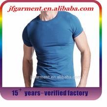 Guangzhou Factory Round Neck Blank T shirt custom 95% cotton 5% elastane t shirt advertising T shirt for Men