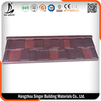 SC Approved Stone Coated Metal Shingle Roofing Tile