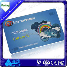 CR80 Standard size Transparent PVC Business Card gift card with hi-co and lo-co magnetic strip