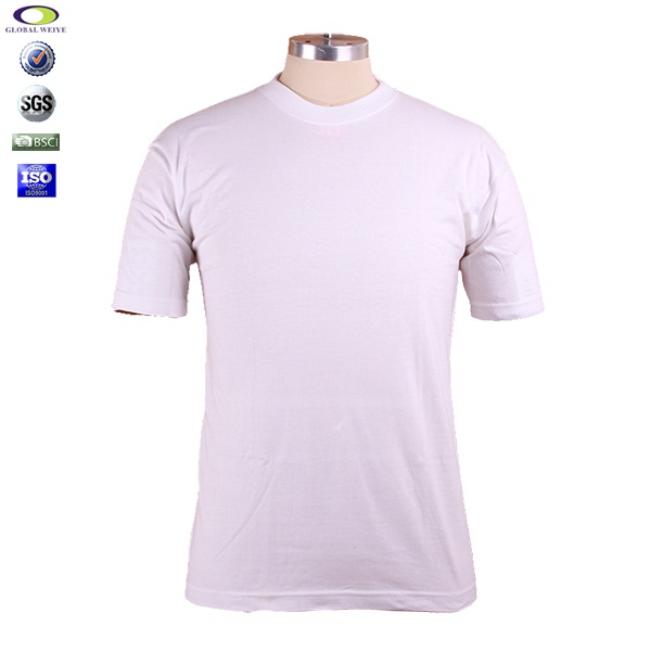 cheap cotton bulk plain white t shirts wholesale china