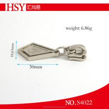 Best selling silver reversible zipper slider manufacture