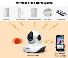Support PIR Sensor, Smoke Detector,Door Sensor and etc.T7838WIP-AR Wireless Wifi PnP P2P PT HD 720p H.264 Video Alarm IP Camera