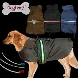 China Dog Cloth Winter Hangers for Dog Clothes Hot Sale LED Handmade Dog Rain Clothes