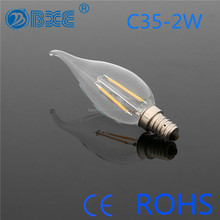 2015 Recommendation! Most Popular 2W Led filament bulb With CE Approved