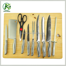2015 Practical&Durable stainless steel hollow handle kitchen knives set of 10/complete kitchen set