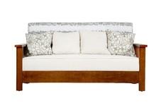 KSF-001 Best sale Solid Teak wood Three seat sofa for living room