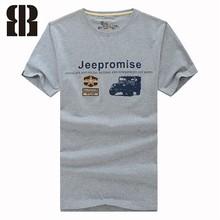 Washed organic cotton brand t-shirt, cheap t-shirt, print t-shirt
