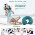 más bajo precio vibrante almohada de masaje portátil para viajar