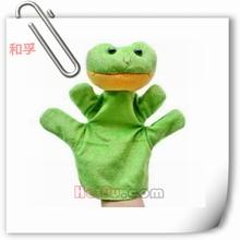 rana guantes de la mano de la mano de marionetas