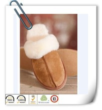100% Sheepskin Fur Women Winter Home Slipper