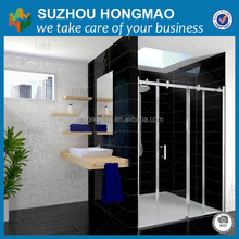 Flat Tempered Glass Shower Door,Clear glass Shower room with En12150-1