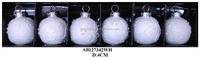 white glass balls for christmas decoration