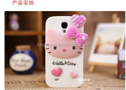 New Arrival 3D Cartoon Rabbit Hello Kitty Silicone Case For Samsung Galaxy S4 I9500