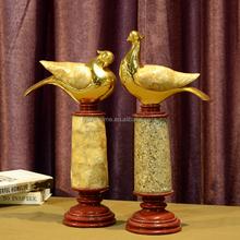 home decoration lucky golden bird sculpture