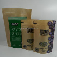 resealable plastic bag for food/sugar packaging paper bag/stand up bag for snack
