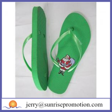 Christmas printing cute customized party flip flops