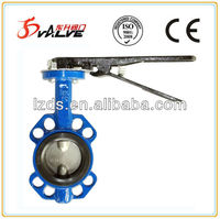 Centric butterfly valve of wafer type