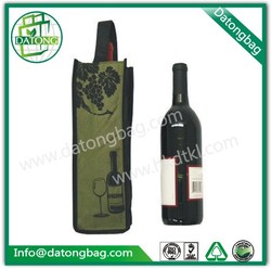 Alibaba online single bottle wine glass gift bag custom tote bag for wine
