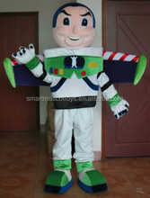 Adultos buzz lightyear traje de la mascota de buzz lightyear traje con casco