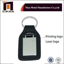 2015 Customized Logo Genuine Leather/PU Leather Car Keychain/Key chain With Gift