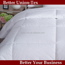 Combed cotton down proof white hotel quilt fabric