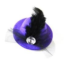 Fashion mini feather hat hair clip hair accessories for women