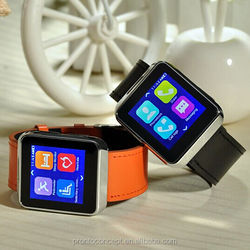Metal new design hear rate smart watch for iPhone and Android smart phone