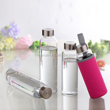 Bpa Free High Quality Water Bottle,Colorful Portable Glass Drinking Bottle Sport Products