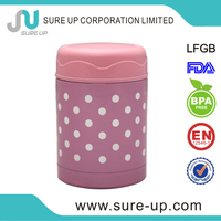 High grade 500ml cylindrical stainless steel food container (csus)