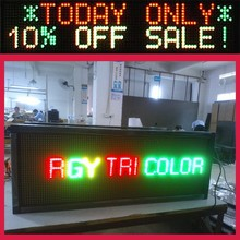 Sunrise scrolling text message led display panel led sign wireless controller wifi