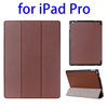 Hign quality 3 Folding leather protective case for iPad Pro 12.9 leather case