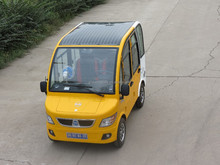 solar electric car with arc solar roof