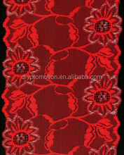 fashion colourful lace on top sleeveless wedding dress