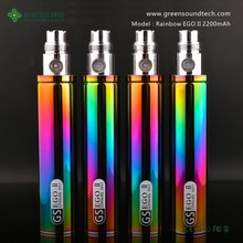 gs eGo II rainbow updated version wholesale Huge Vapor Starter Kit electronic cigarette hookah