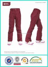 Calças de esqui impermeável mulheres calças de inverno