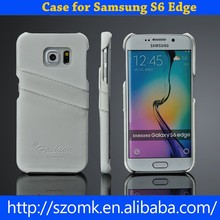New wholesale super thin leather back case for samsung Galaxy S6 Edge