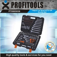 """138pcs 1/4""""&3/8""""&1/2"""" high quality tool kit for motorcycle"""