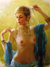 Hot sexy naked woman nude oil painting with high quality wholesale
