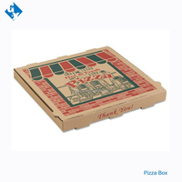 Square pizza box corrugated paper pizza container hot fresh