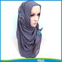 silk muslim square scarf