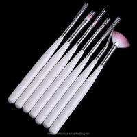cheap white color 7pcs nail art brush set