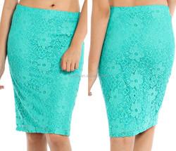 skirts knee length women FLORAL LACE OVERLAY MIDI SKIRT skirts fashion 2015
