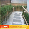 Garden road pavement polished white natural glowing stone