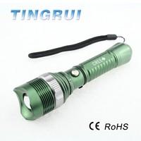 Promotional candy color led vibrator flashlight