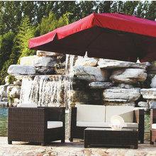 Fashion garden rattan furniture long sofa